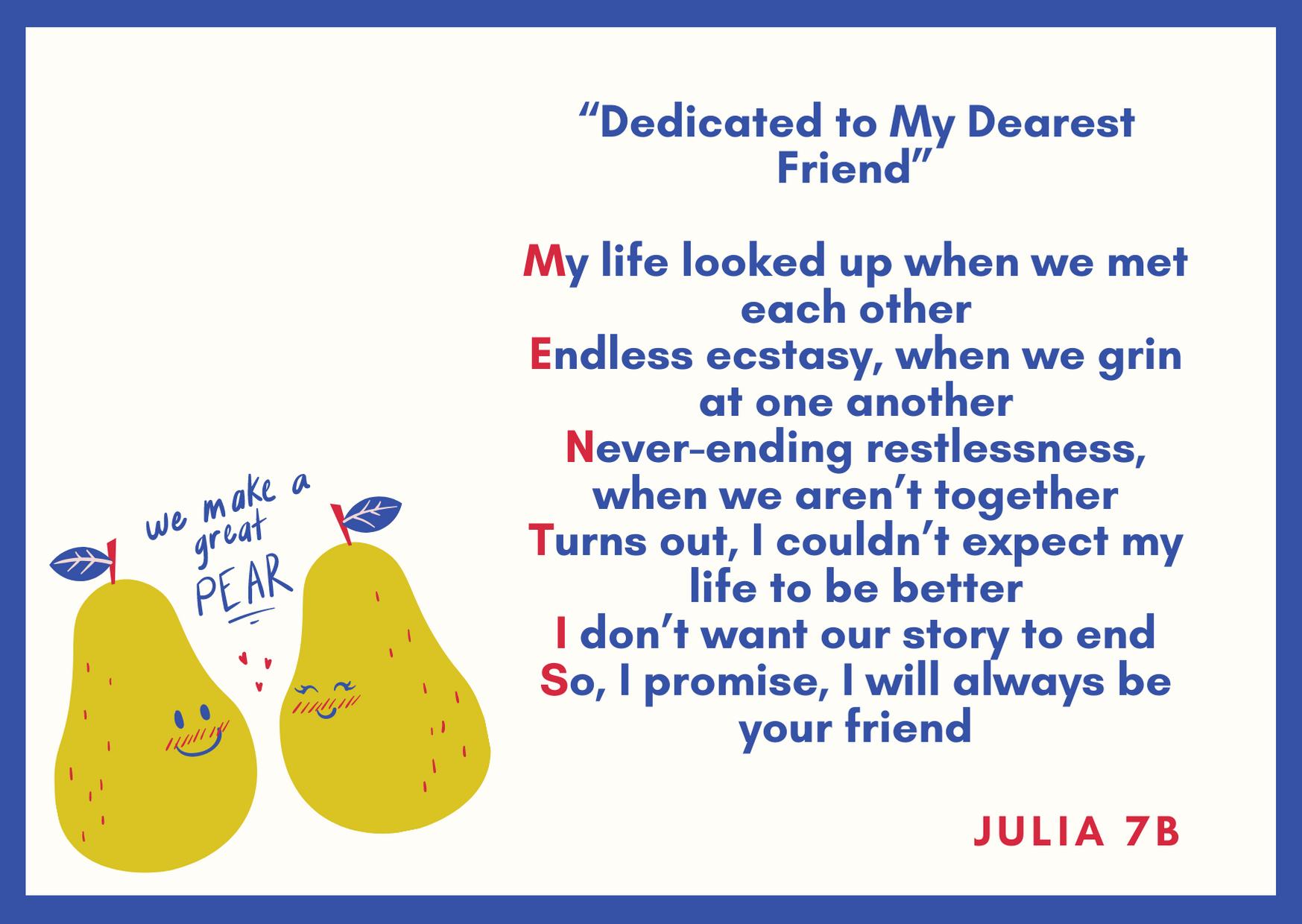 wiersz Julia