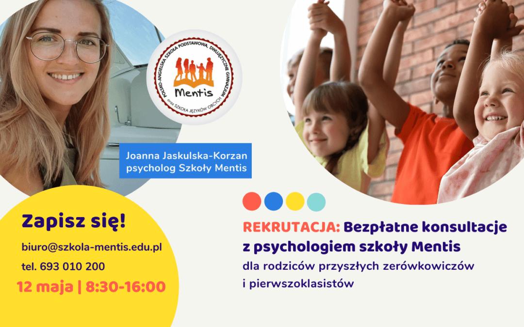 Rekrutacja: KONSULTACJE z psychologiem Mentis